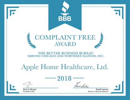 Apple Receives BBB Complaint Free Award for 2018